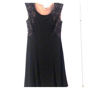 Fit and flare lace detail dress